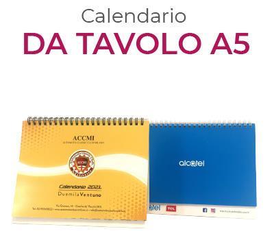 calendario totalmente personalizzato da tavolo A5