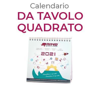 calendario totalmente personalizzato da tavolo quadrato