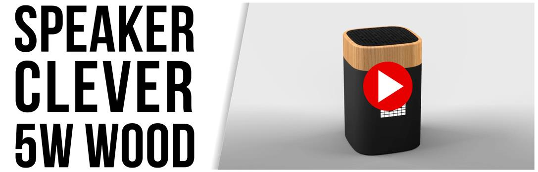 speaker clever 5w wood